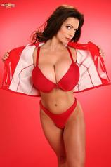 Denise Milani In Red