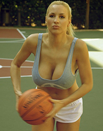 Jordan Carver Playing Streetball