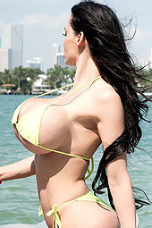 Amy Anderssen Rides The Miami Waves On A Jet Ski