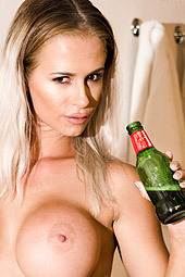 Brooke Lea Drinking Beer