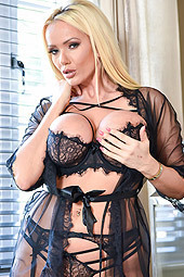 Lucy Zara In Sexy Black Lingerie