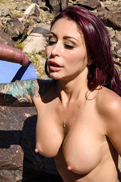 Sexy Redhead Monique Alexander Fucked Outdoors