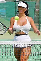 Busty Tennis Player