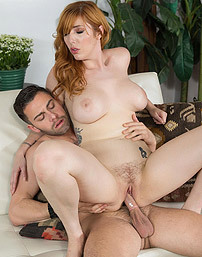 Hot Redhead Whore Lauren Phillips Fucked On The Sofa