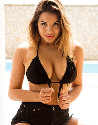 Lacey Banghard In Black Shorts